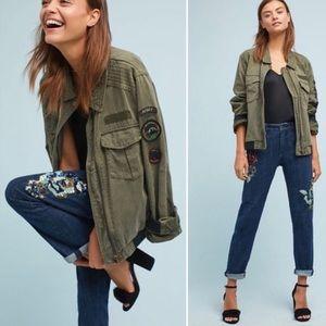 ANTHROPOLOGIE Pilcro Sequin Slim Boyfriend Jeans